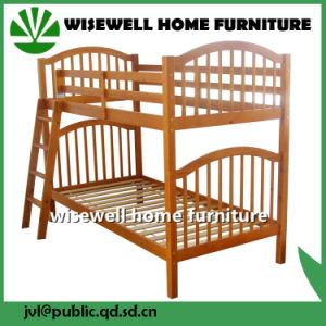 Pine Wood Futon Bunk Bed with 2 Single Bed (WJZ-B713) pictures & photos