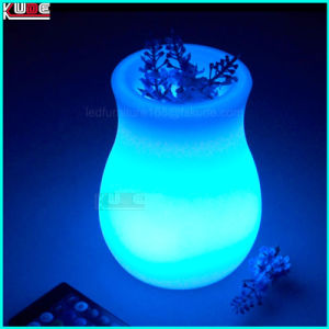 Wireless Christmas Plastic Flower Vase with LED Gift pictures & photos
