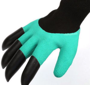 Latex Foam Coated Garden Planting Digging Safety Gloves pictures & photos