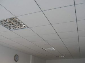 Design Acoustic Sound Absorption Suspended Gypsum Board Decorative Ceiling pictures & photos