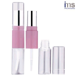 6.5ml Duo Round Plastic Lip Gloss/Lipstick Container pictures & photos