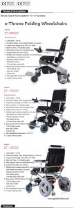 """12"""" Foldable Electric Wheelchair, Brushless and Long Life pictures & photos"""