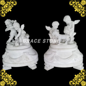 Marble Carved Four Season Kids Statue pictures & photos