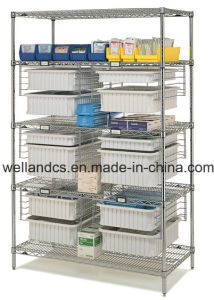 NSF Adjustable Chrome Metal Storage Rack for Hospital pictures & photos