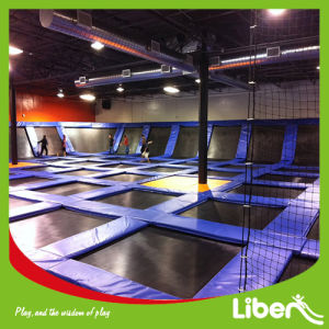 Big Indoor Gymnastic Trampoline with Basketball in Trampoline Park pictures & photos