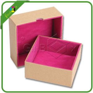 Printed Paper Cardboard Jewelry Box with Flocking Foam Insert pictures & photos