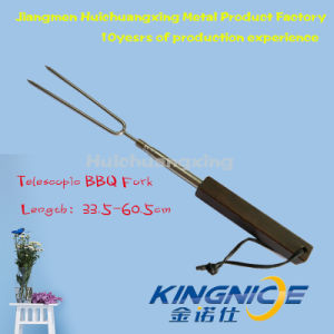 New Item Telescopic Stainless Steel BBQ Hot Dags Forks, Marshmallow Roasting Sticks Locking BBQ Fork pictures & photos