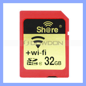 Micro SD WiFi Card Real Capacity C10 10-25m Working Distance Wirelessly Share WiFi SD Card Memory Card pictures & photos