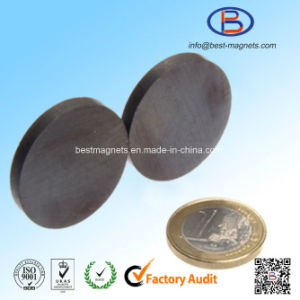 D30X4 Y30bh High Quality Disc Shape Anisotropic Permanent Ferrite Magnet pictures & photos