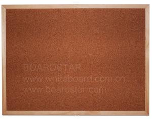 Natural Wood Framed Cork Board (BSCCO-W)