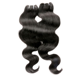 7abrazilian Virgin Hair Body Wave Human Hair Weft with Closure Lace Closure with Bundles Virgin Brazilian Hair 4*4 Lace Closure pictures & photos