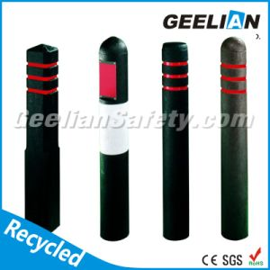 Square and Round Plastic Road Safety Flexible Delineator Post pictures & photos