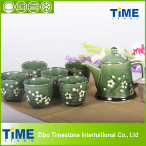 Stoneware 9PC Hand Painted Tea Set (6615-001) pictures & photos