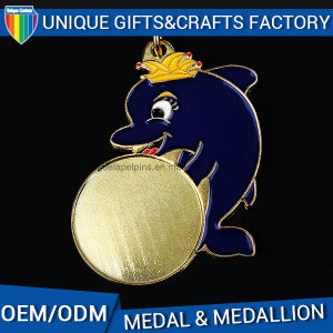 3D Logo Metal Sports Medal Engraving Medal with Colorful Ribbon pictures & photos