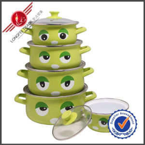 Eco-Friendly Cast Iron Enamel Cookware Set with Lid pictures & photos