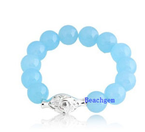 Natural Amazon Beads Bracelet with Silver Charm (BRG0022) pictures & photos