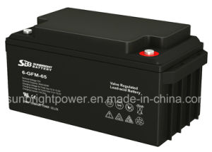 12V65ah Maintenance Free Deep Cycle Solar Power SLA Battery pictures & photos