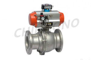 Penumatice Flange Type Ball Valve pictures & photos