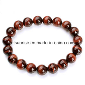 Natural Gemstone Red Tiger Eye Beaded Bracelet pictures & photos