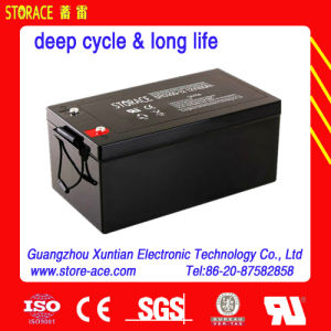 12V 200ah Lead Acid Deep Cycle Solar Battery pictures & photos
