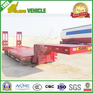 Tri-Axle 60 Tons Low Bed Extendable Trailer pictures & photos