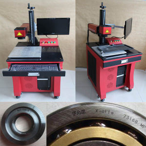 Factory Fiber Laser Marking Machine for Arch Round Circle Marking pictures & photos