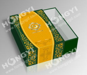 Green/Yellow MDF+Art Paper+Embossed Perfume Gift Box for Custom Packaging (HYP019) pictures & photos