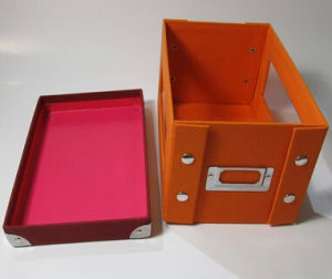 New Foldable Rigid Paper Household Storage Box pictures & photos