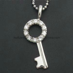 Metal Key Chain Shape Women Steel Stone Pendant pictures & photos