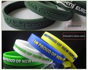 Hot Selling Sports Silicone Wristband, Silicone Bracelets, Silicone Wrist Band for Kids, Adults pictures & photos