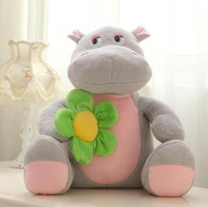 Soft Wild Animal Toy Cute Giant Hippo Plush Toy for Kids