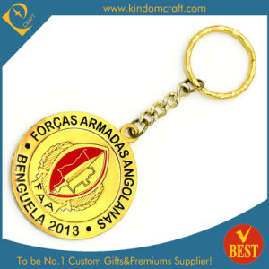 Customized Logo Promotional Soft Enamel Add Epoxy Metal Gold Key Chain From China pictures & photos