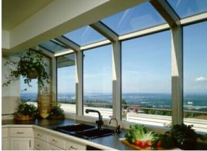 Aluminium Big Frame Fixed Window for Kitchen pictures & photos