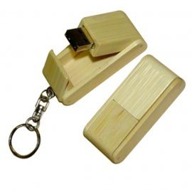 Folded Wooden USB Flash Pen Drive with Keyring pictures & photos