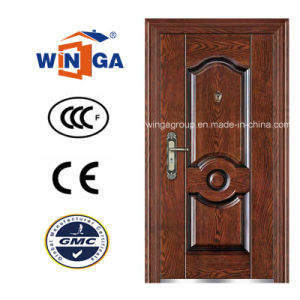 Istanbul Brown Color Entrance Metal Steel Security Door (W-S-70) pictures & photos