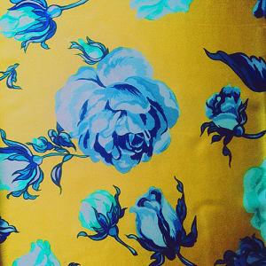 19m/M Silk Satin Print in Flower Design
