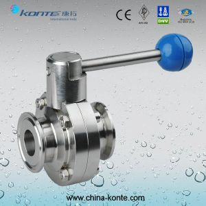 D81f--10p/R Sanitary Clamped Butterfly Valve pictures & photos