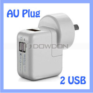 Round Au UK Us Multi Plug 5V Output 2 USB Charger for Samsung S7 / iPhone 7 / iPad Air pictures & photos