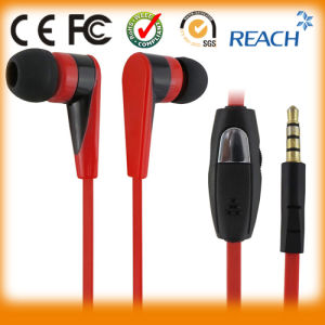 Custom Earphone Flat Cable Earbuds pictures & photos