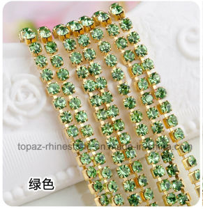 Rhinestone Chain Rhinestones Crystal Claw Chain for Clothes (RCG-2mm peridot) pictures & photos