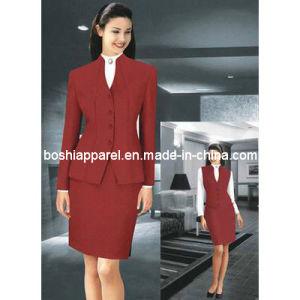 Fashionable Ladies′ Suit, Mandarin Collar (LS-011) pictures & photos