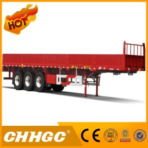Hot Sale 3 Axles Side Wall Semi Trailer/ Bulk Cargo Trailer pictures & photos
