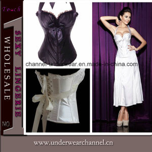 Sexy Lady Overbust Satin Bridal Corset (TWK1388) pictures & photos