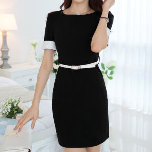 Plus Size Office Dress Designs Women Career Ol Pencil Dresses pictures & photos