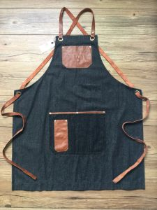 Factory Custom Blue Work Aprons for Women Wholesale pictures & photos