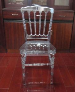 Clear Resin Napoleon Chair for Wedding pictures & photos