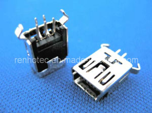 Mini USB Connector, 5 10 Pin, Female pictures & photos
