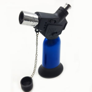 Blue Windproof Jet Flame Refillable Gas Torch Cigar Lighter (ES-TL-016) pictures & photos