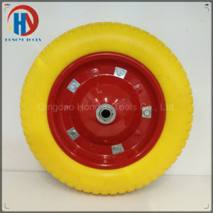 "16"" Solid PU Foam Wheel for Trolley/Wheelbarrow pictures & photos"