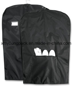 Black Nylon Suit Travel Garment Bags with Shoe Pocket pictures & photos